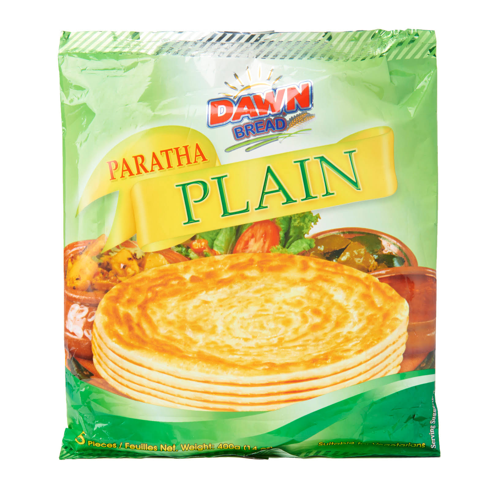 Dawn Bread Plain Paratha - 5 pcs, 400g