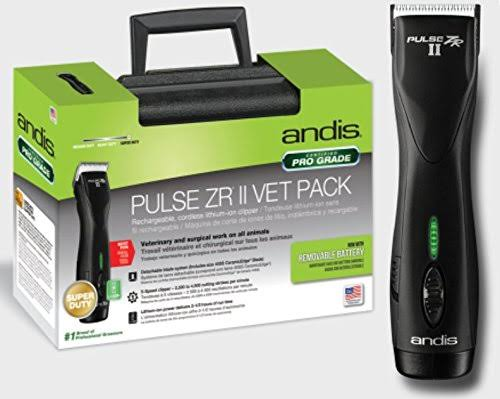 Andis Professional Dog Grooming Clipper Cordless Lithium-Ion Removable Battery 3 Hour Pulse ZR