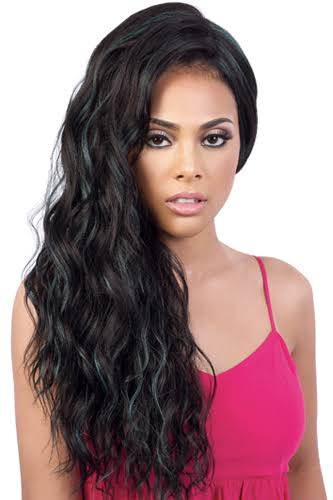 Motown Tress sl134.she Swiss Lace Front Wig Synthetic - rt1b/purple