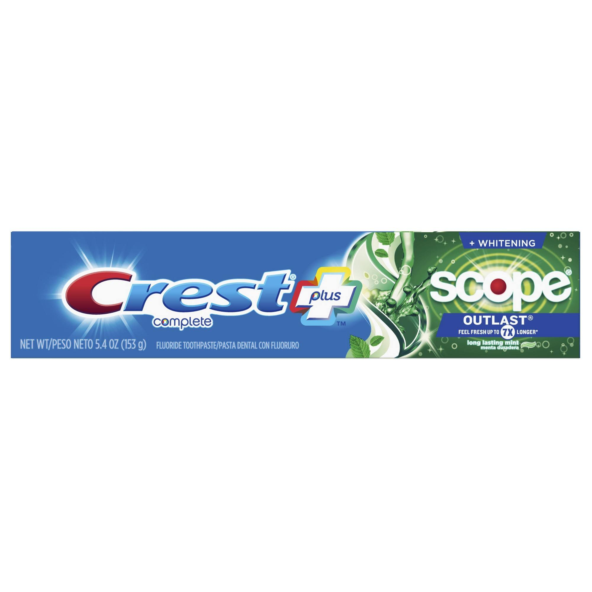 Crest Scope Outlast Complete Whitening Toothpaste - Mint, 5.4oz