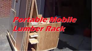 portable mobile lumber rack youtube