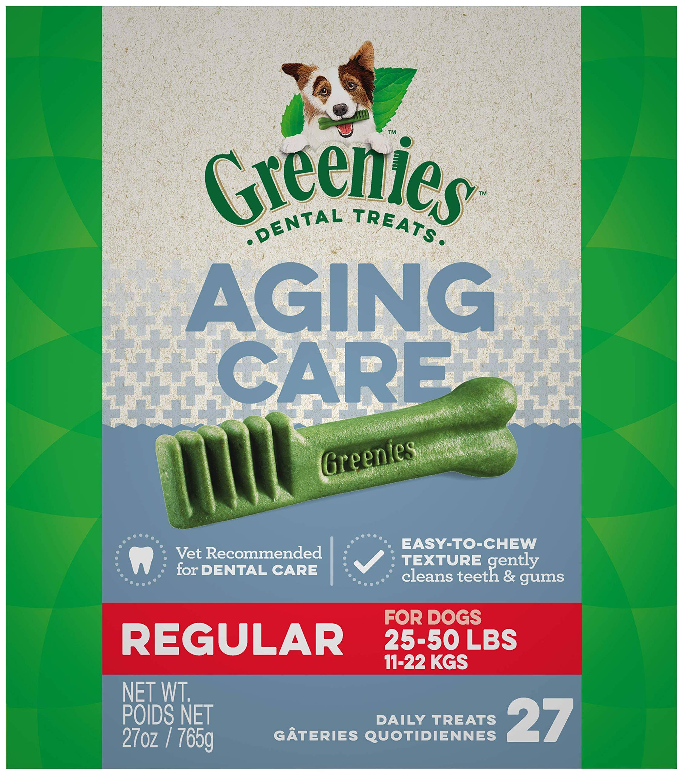 Greenies Aging Care Regular Size Dental Dog Treats - 27oz