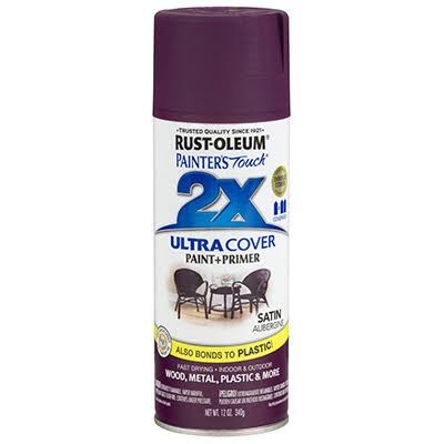 Rust-Oleum Painter's Touch Spray Paint - Satin Aubergine, 12oz