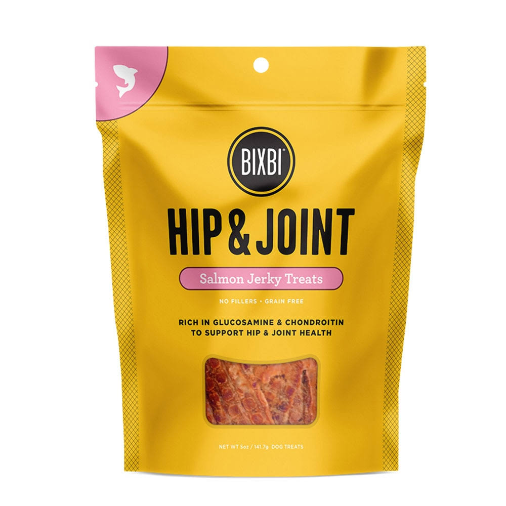 Bixbi Jerky Hip & Joint Salmon Dog Treats, 5oz