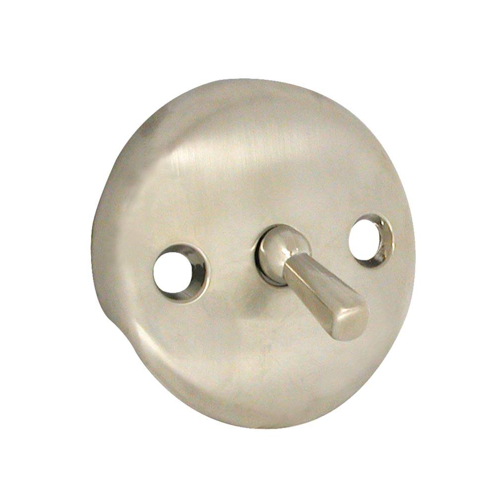 Danco 89231 Tub Overflow Plate - Brushed Nickel, with Trip Lever