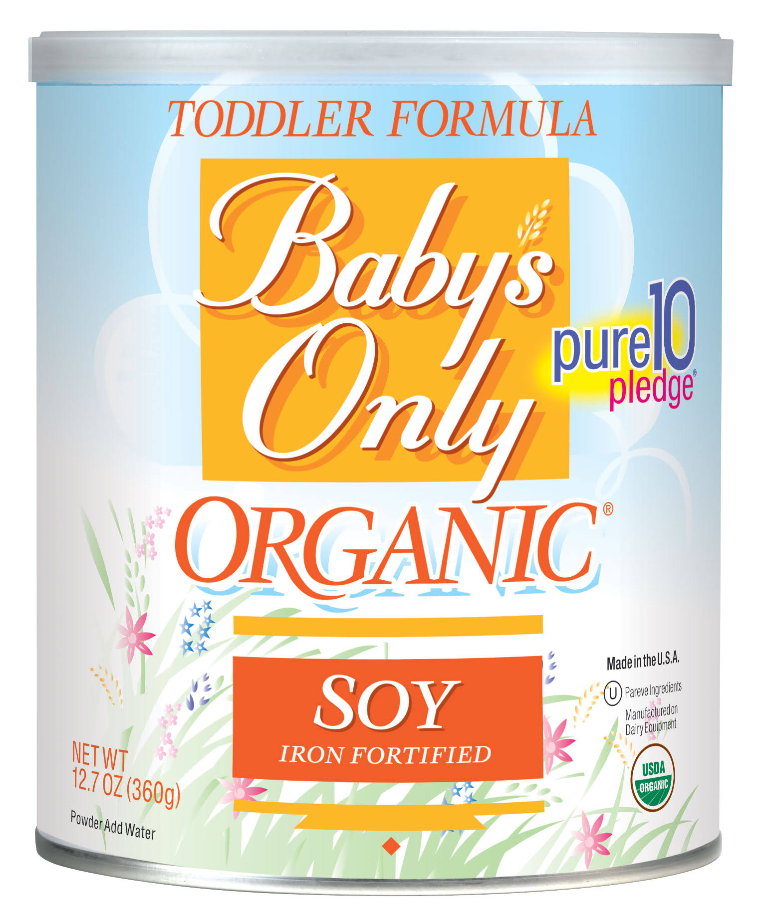 Baby's Only Organic Soy Toddler Formula - 12.7oz