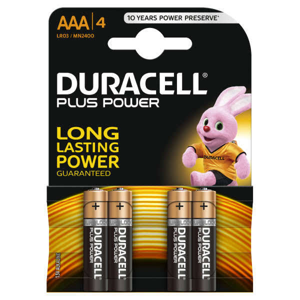 Duracell Plus Power Alkaline AAA Batteries - 4pk