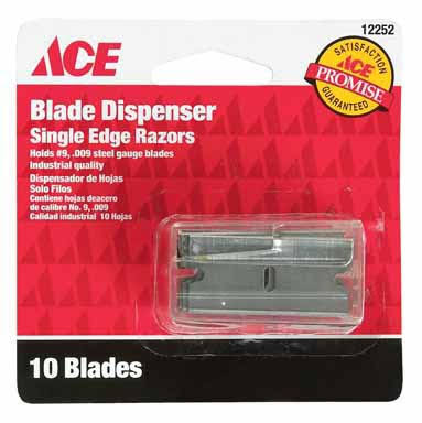 Ace Industrial Quality Single Edge Razor Blade Dispenser - 10 Blades