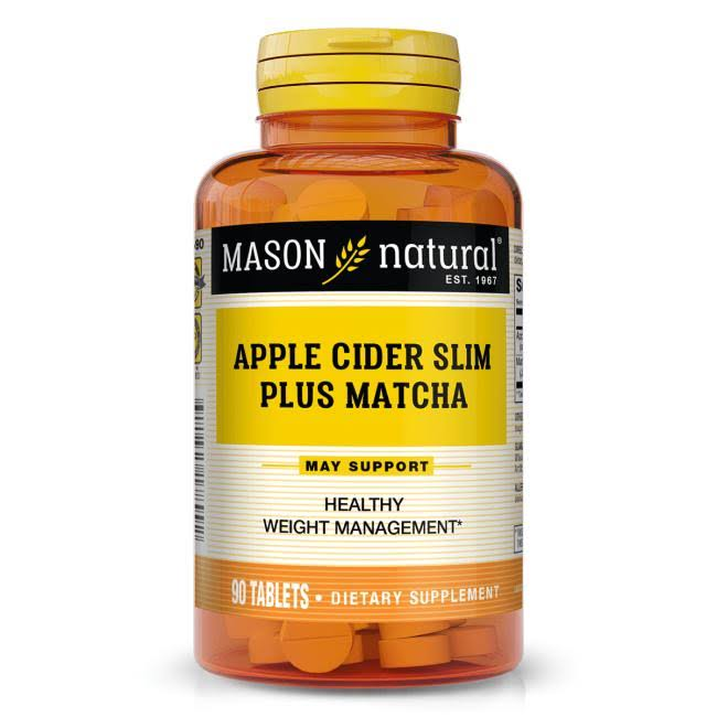 Mason Natural, Apple Cider Slim Plus Matcha, 90 Tablets