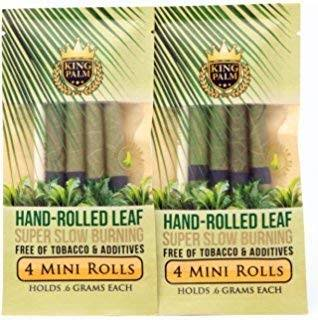 King Palms Organic Pre Rolls, Tobacco & Chemical Free, Super Slow Burning, 100% Real Palm Leaf, Just Fill It, w/ Free Carrying Tube, 9 Count