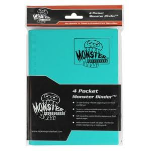 Monster Binder 4 Pocket Trading Card Album - Matte Teal