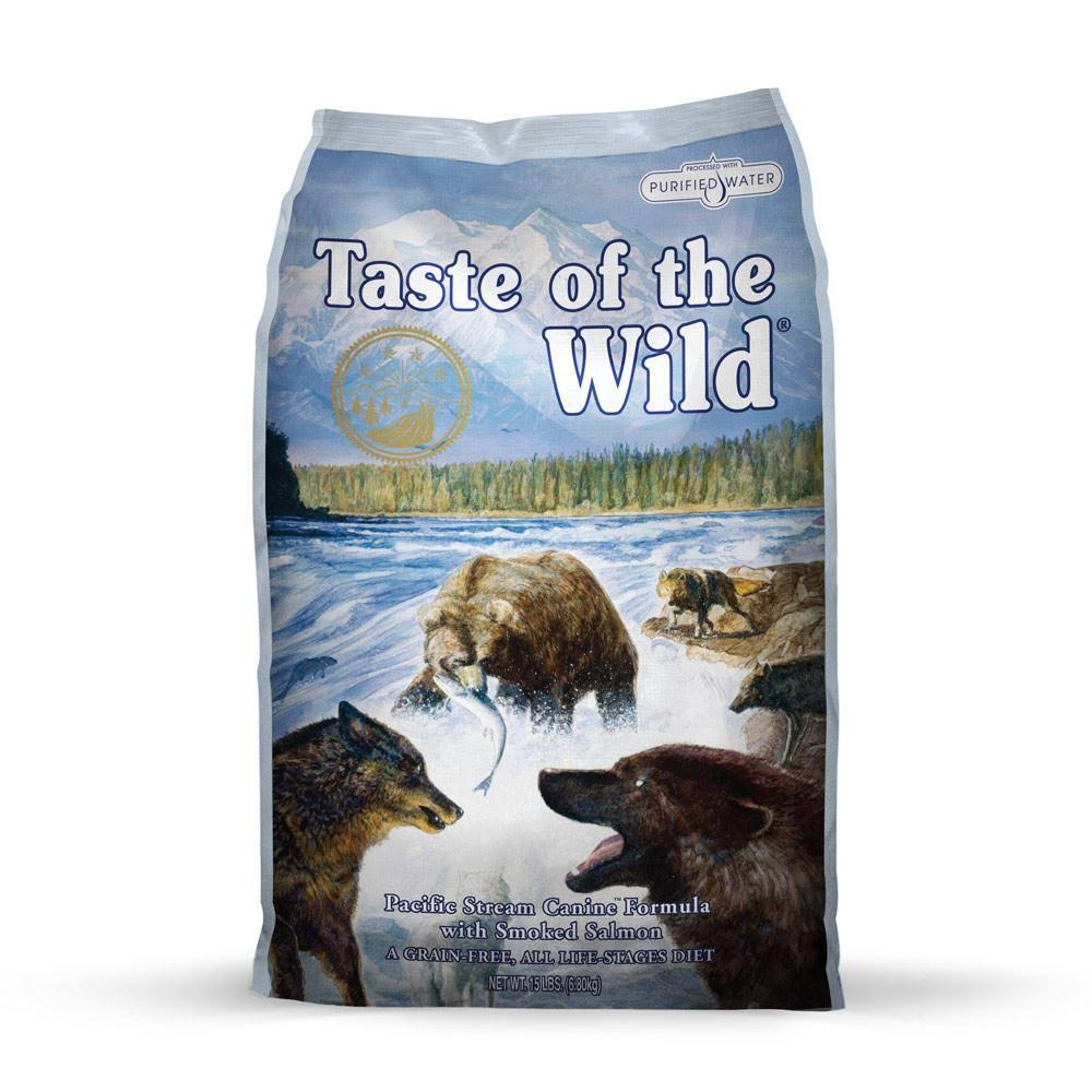 Taste of the Wild Dog Food - Pacific Stream Canine Formula, with Smoked Salmon, 30lb