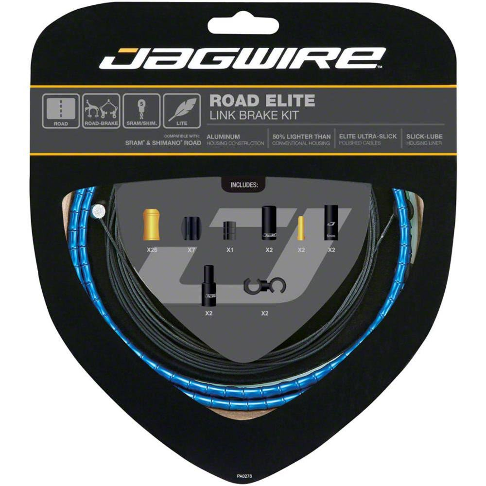 Jagwire Road Elite Link Brake Cable Kit Blue