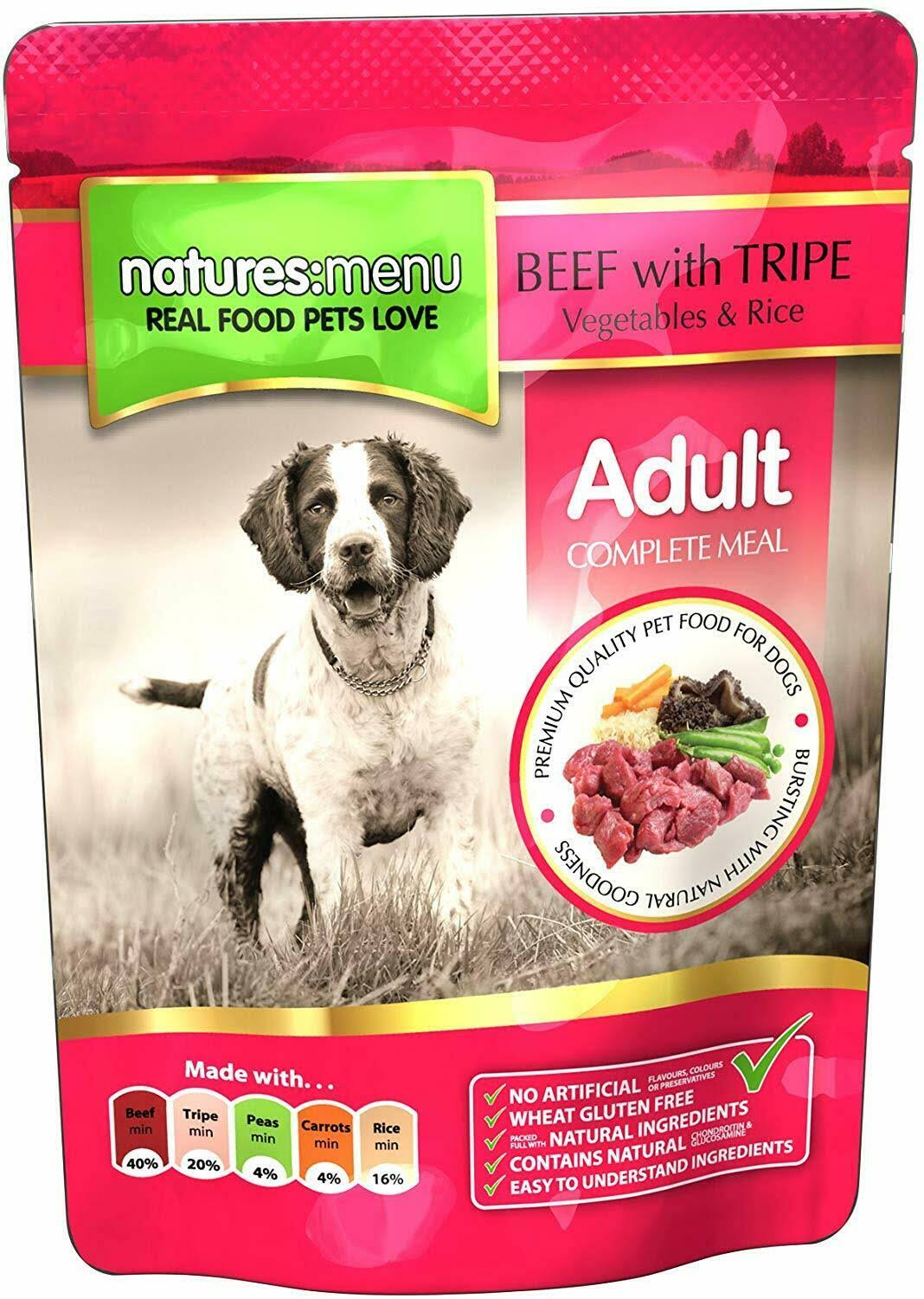 Natures Menu Dog Food - Beef and Tripe, Adult