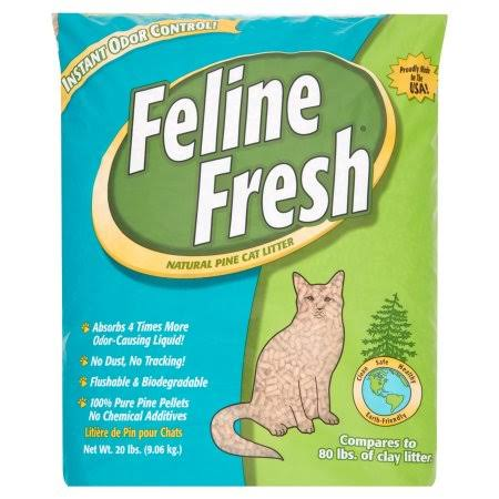 Feline Fresh Natural Pine Cat Litter - 20lbs