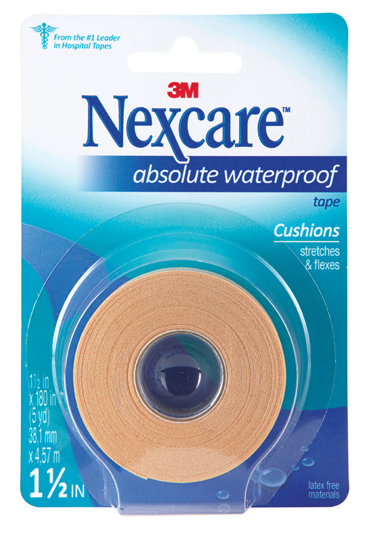 "3M Nexcare Absolute Waterproof First Aid Tape - 1.5"" x 5yds"