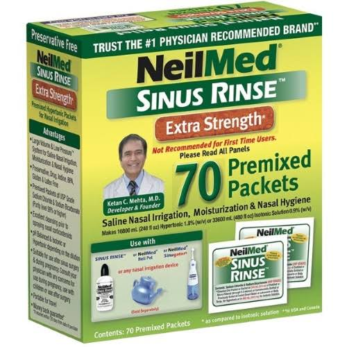Neilmed Sinus Rinse Extra Strength Pre-Mixed Hypertonic Packets