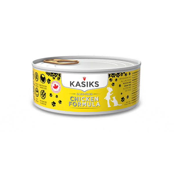 Kasiks Grain Free Canned Cat Food Chicken Formula 5.5 oz Can