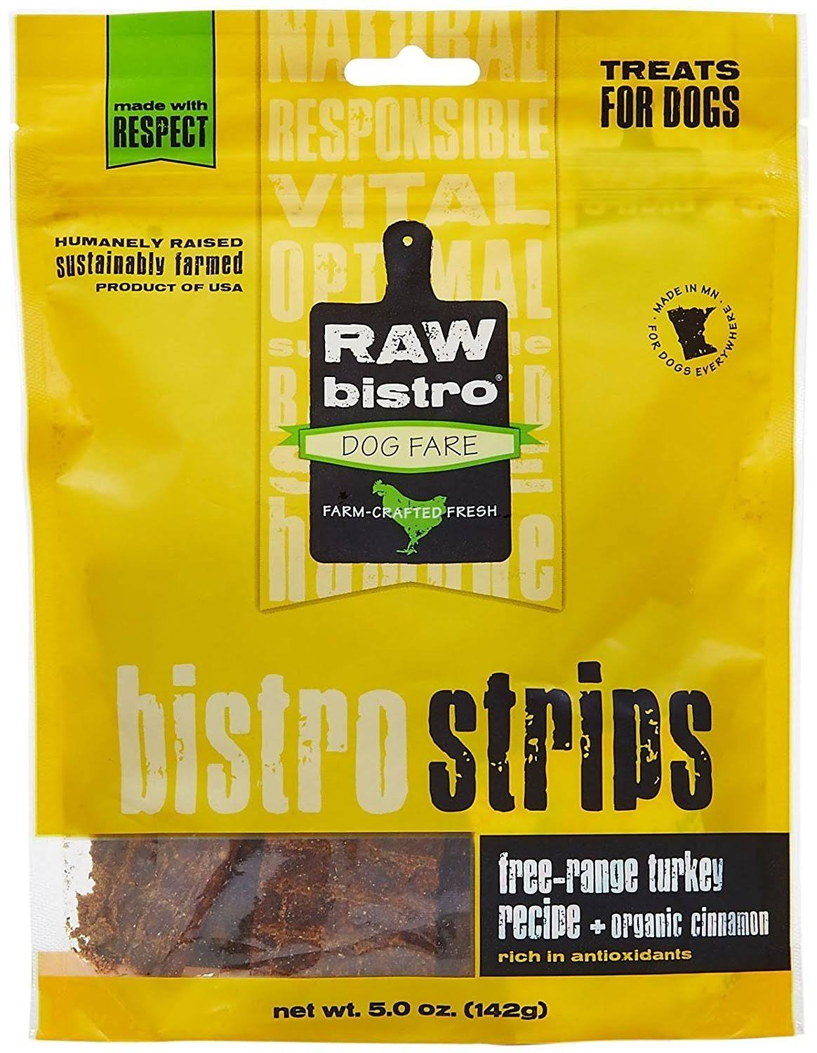 Raw Bistro Bistro Strips Dog Treats - Turkey, 5oz