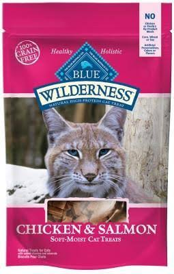 Blue Buffalo Wilderness Soft Cat Treats - Chicken and Salmon, 2oz
