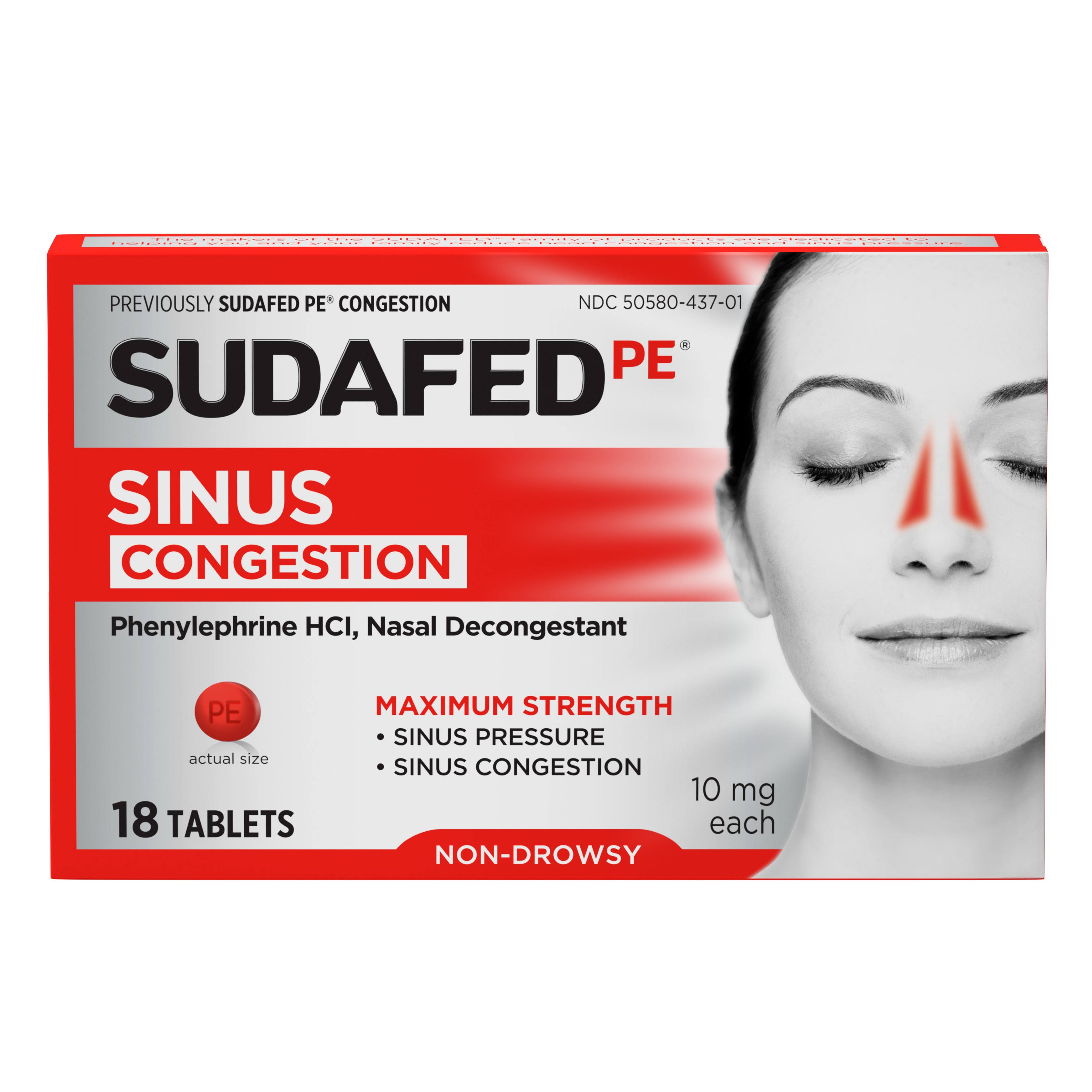 Sudafed PE Congestion - 18 Tablets