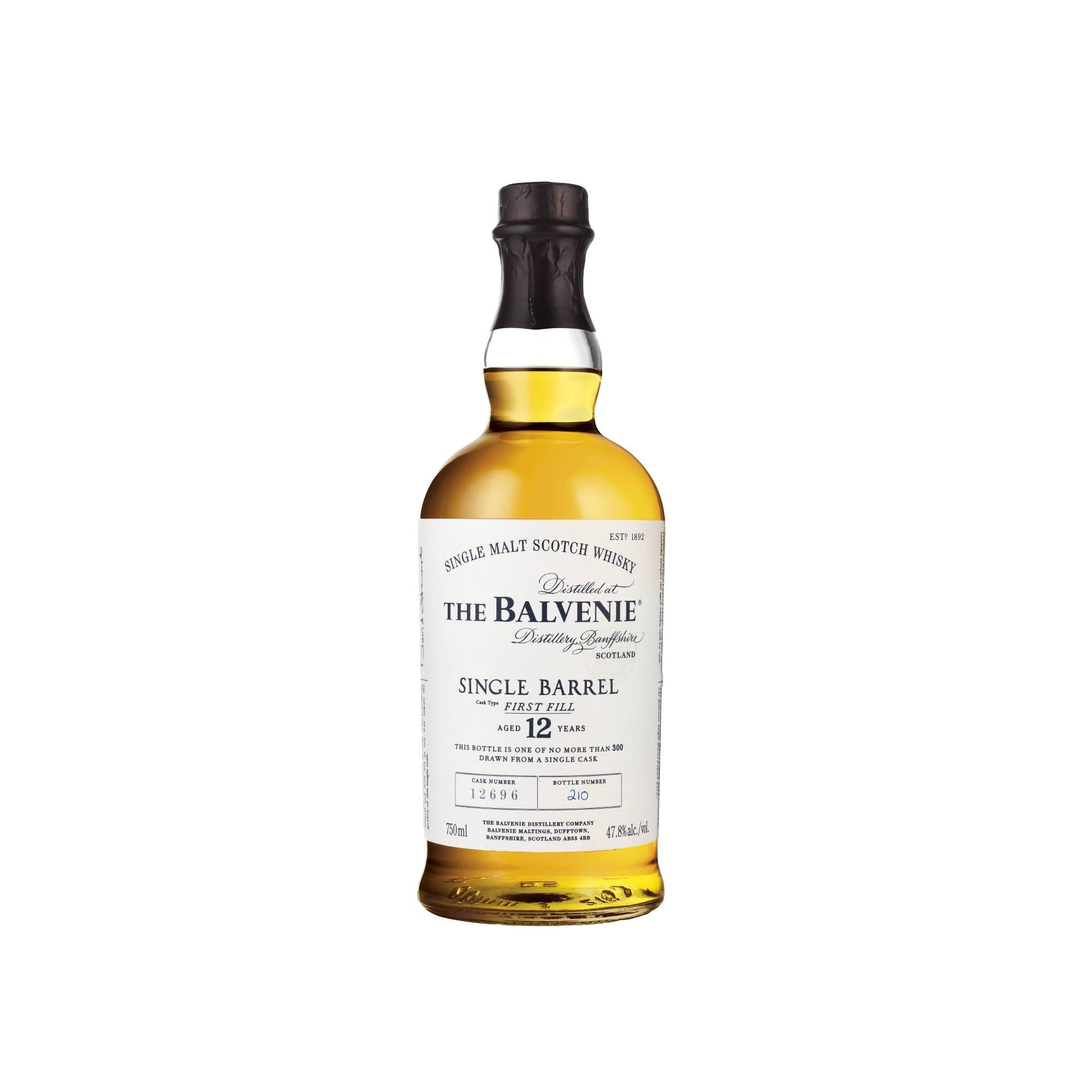 Balvenie Single Malt Scotch Whisky 12 Year Old - 750ml
