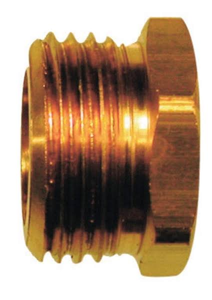 "JMF Brass Hose Adapter - 3/4"" x 1/2"""