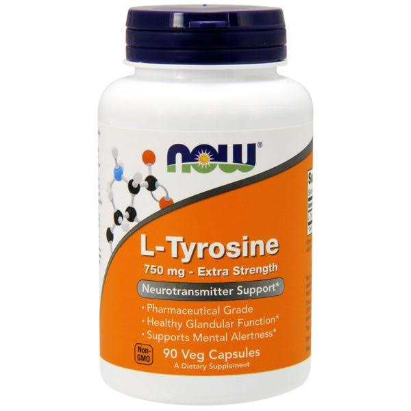 Now Foods L-Tyrosine Dietary Supplement - 90 Capsules
