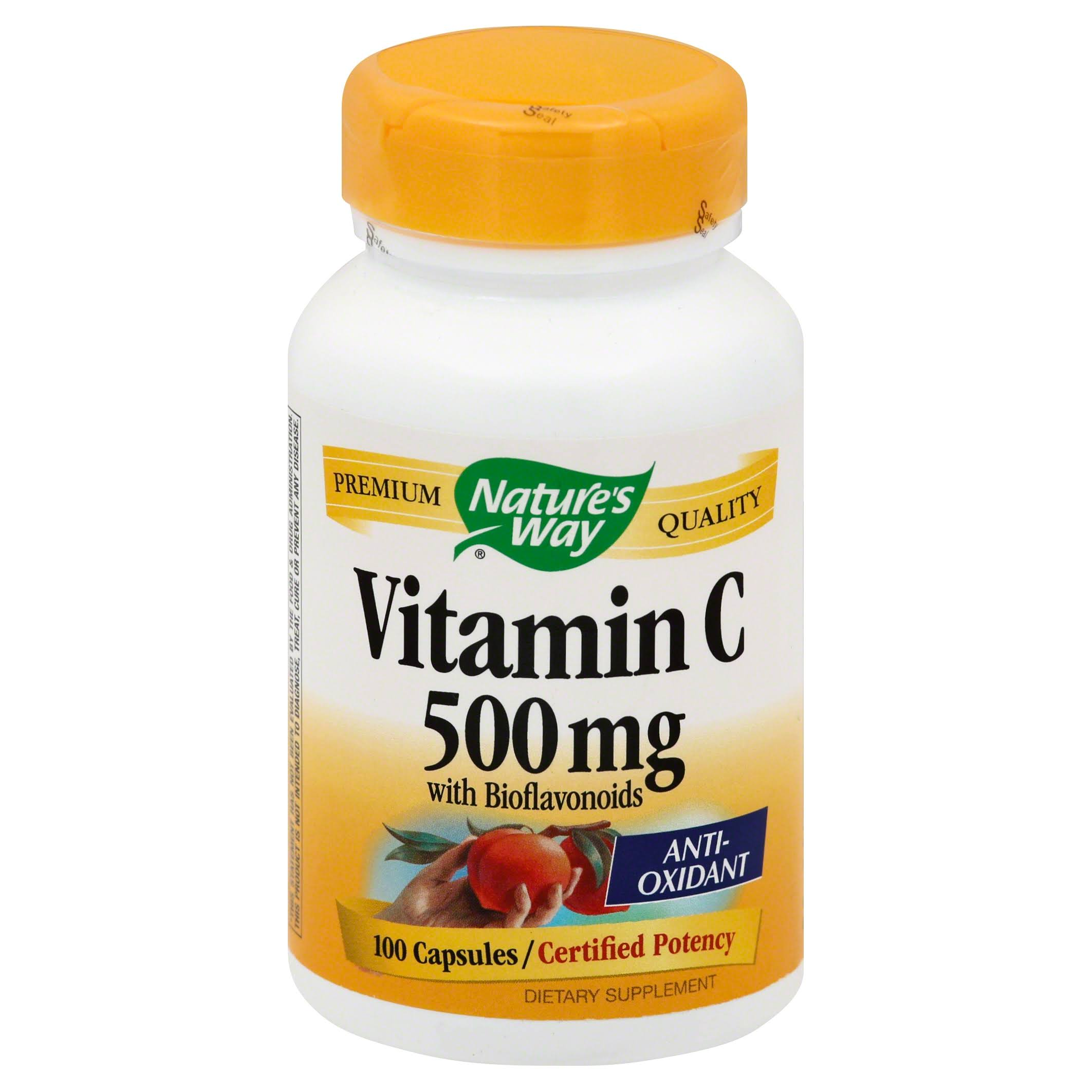 Nature's Way Vitamin C 500 Supplement - 100 Capsules