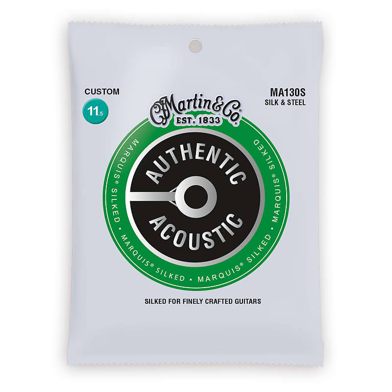 Martin Authentic Acoustic Guitar Strings - Marquis Silked Silk-Steel MA130S