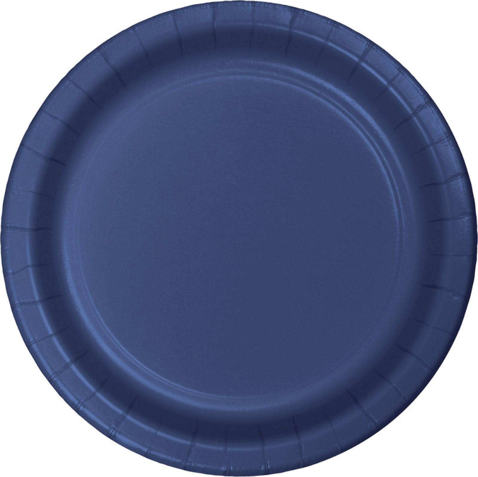 "Creative Converting Paper Plate - 24ct, 9"", Navy"