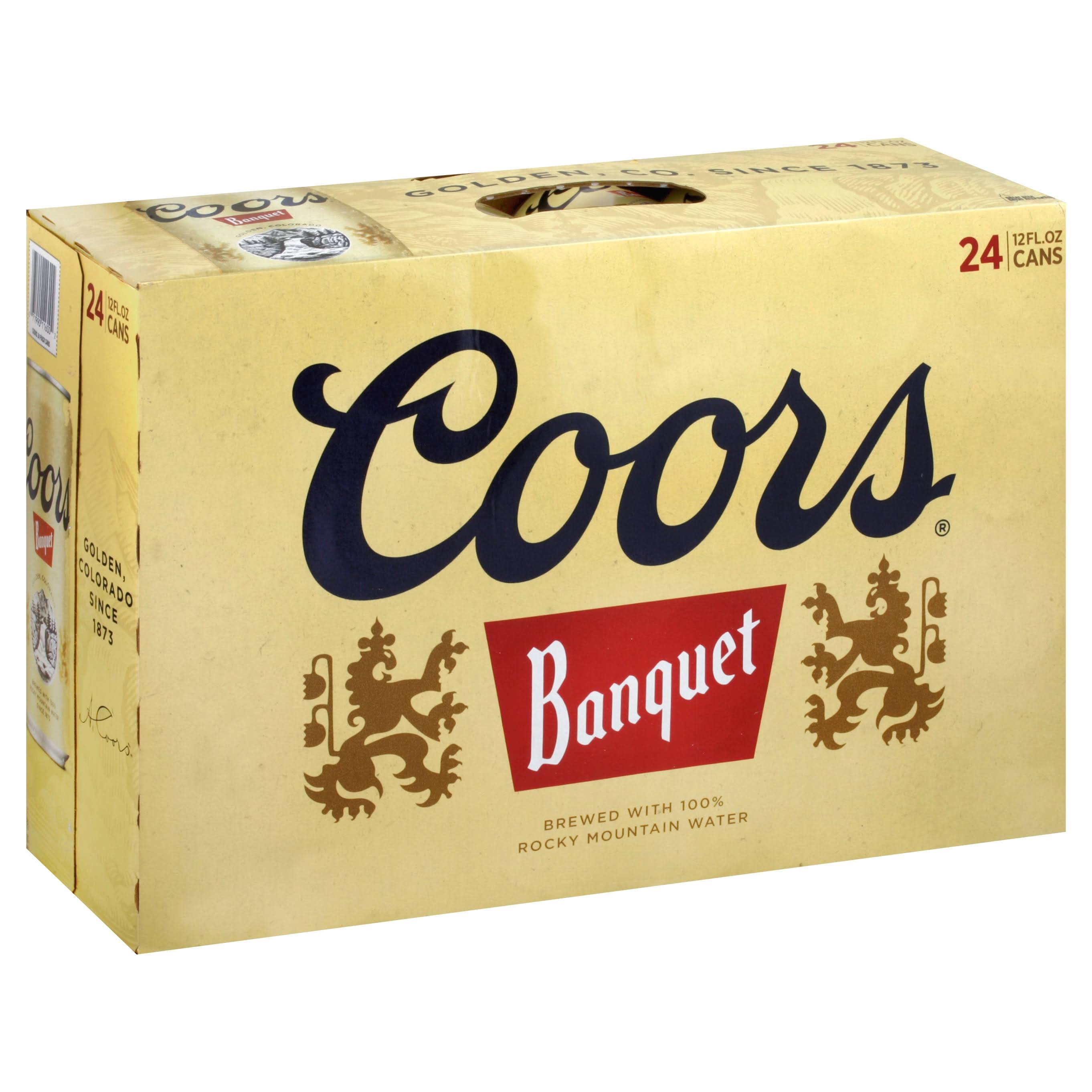 Coors Banquet Beer, 24 Pack - 24 pack, 12 fl oz cans