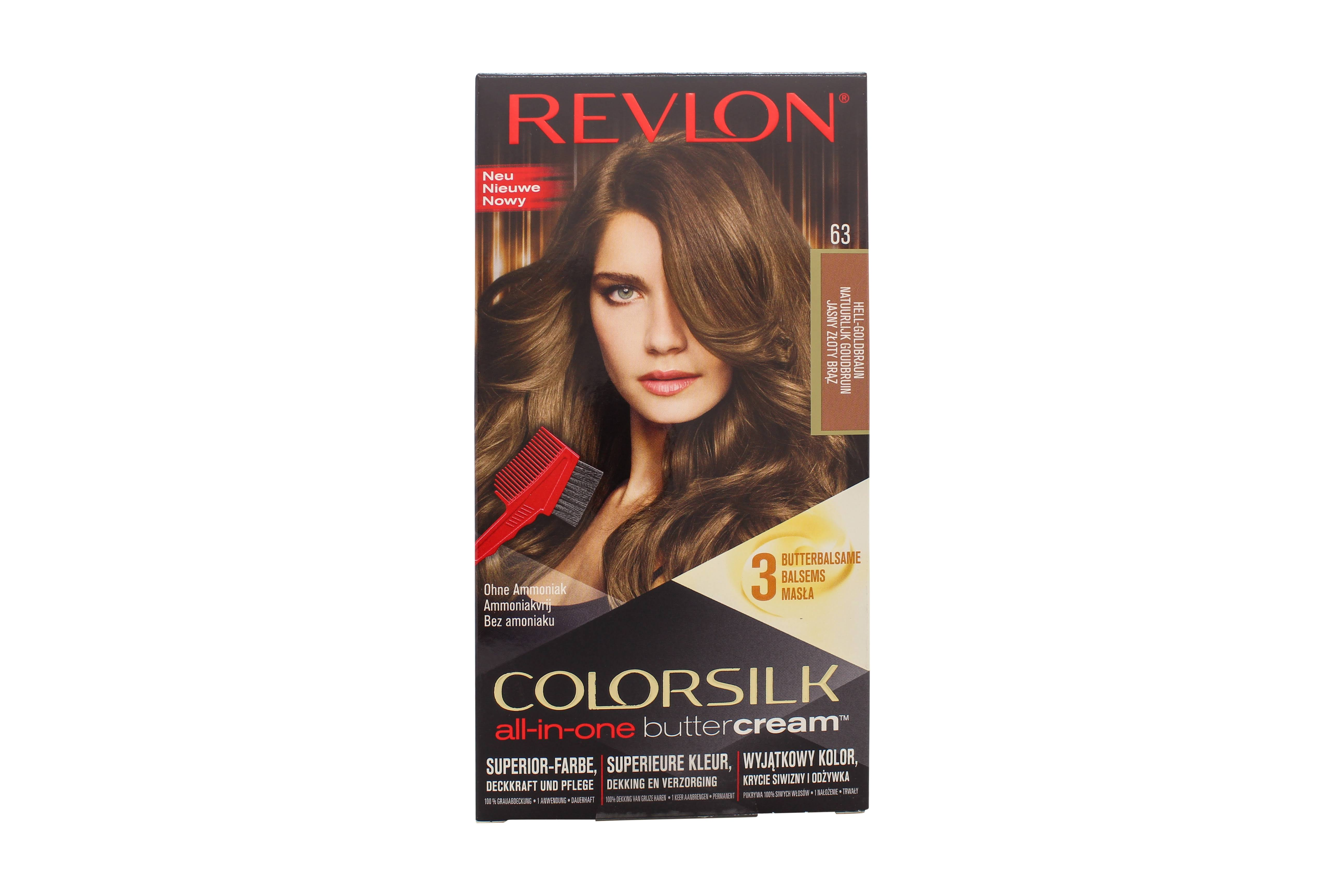 Colorsilk Butter Cream Permanent Hair Color, Lasting Color, Light Golden Brown 63/54G