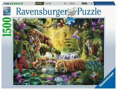 Ravensburger Adult Jigsaw Puzzle Tranquil Tigers 1.500 Piece, Age 14 +