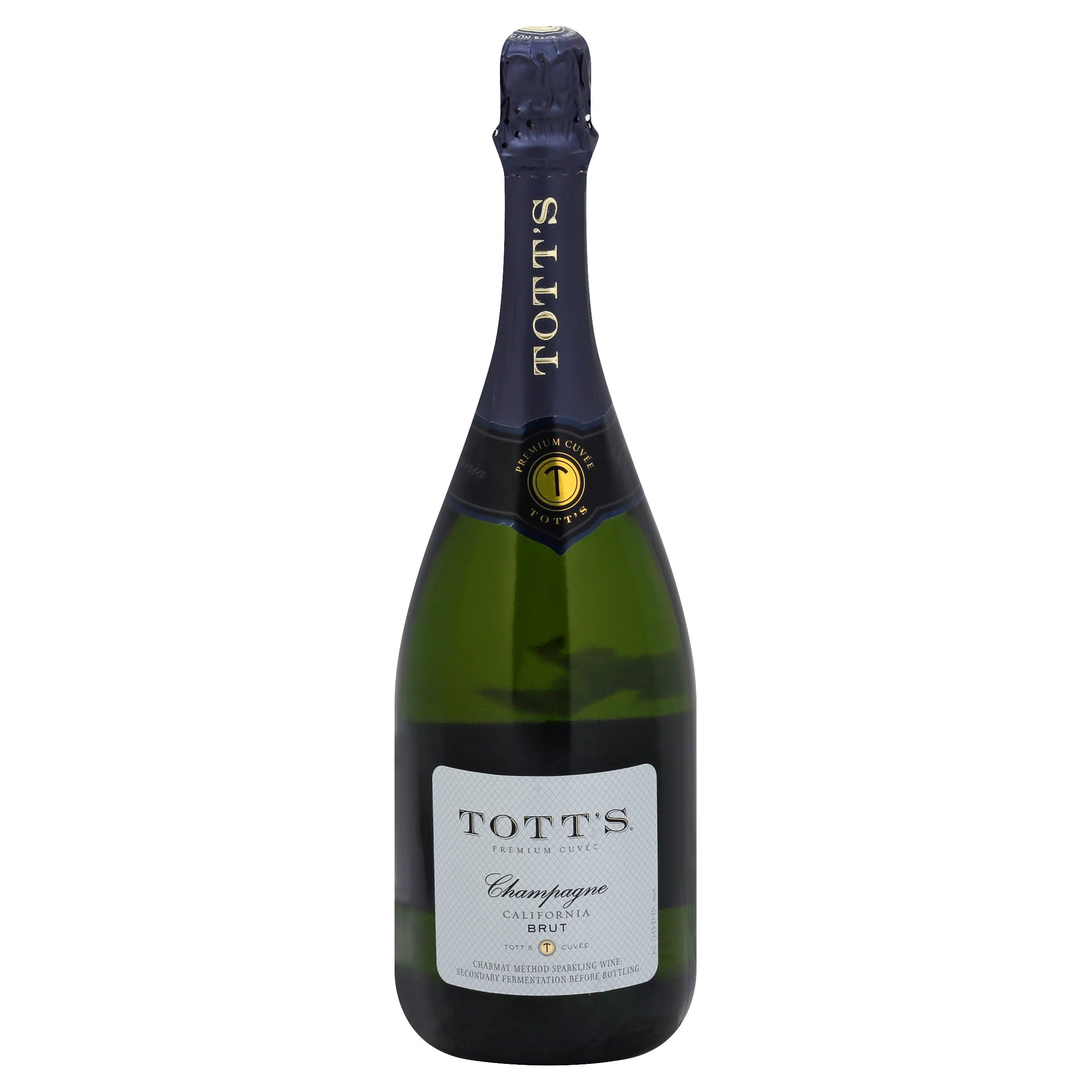 Tott's Brut Champagne, California (Vintage Varies) - 750 ml bottle
