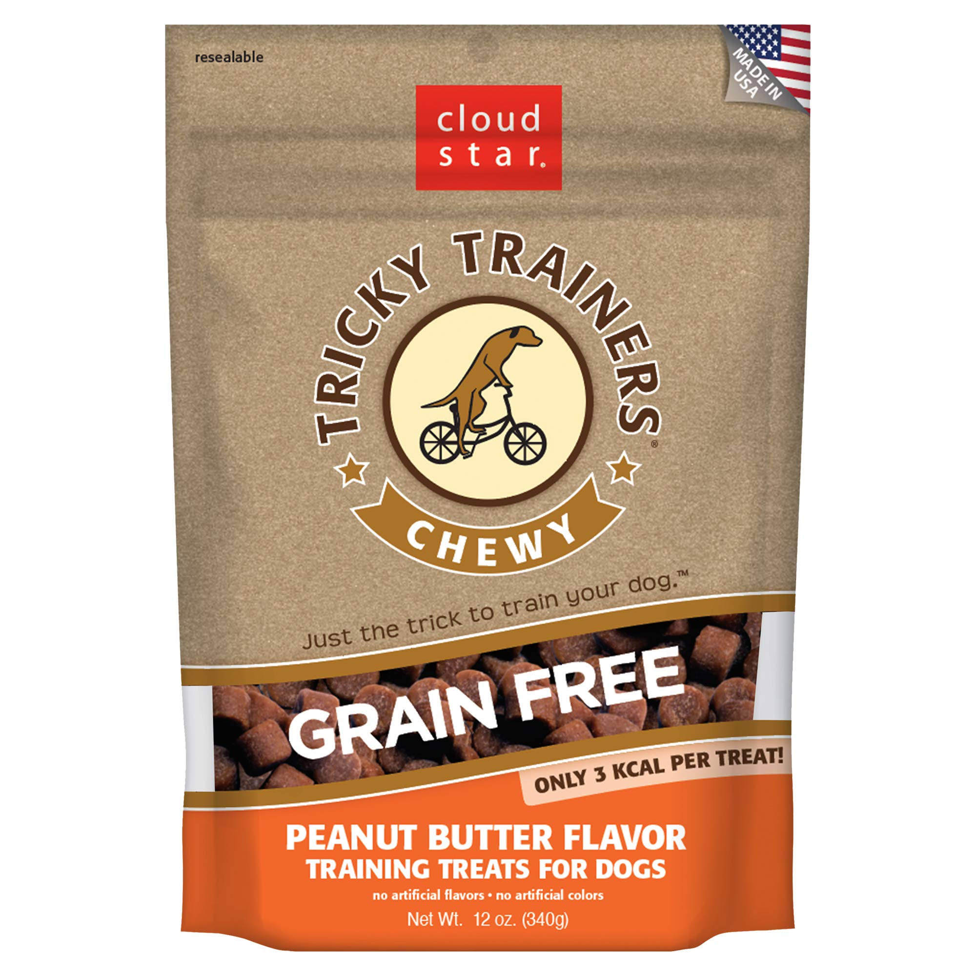 Cloud Star Tricky Trainers Chewy Grain Free Peanut Butter - 12 oz