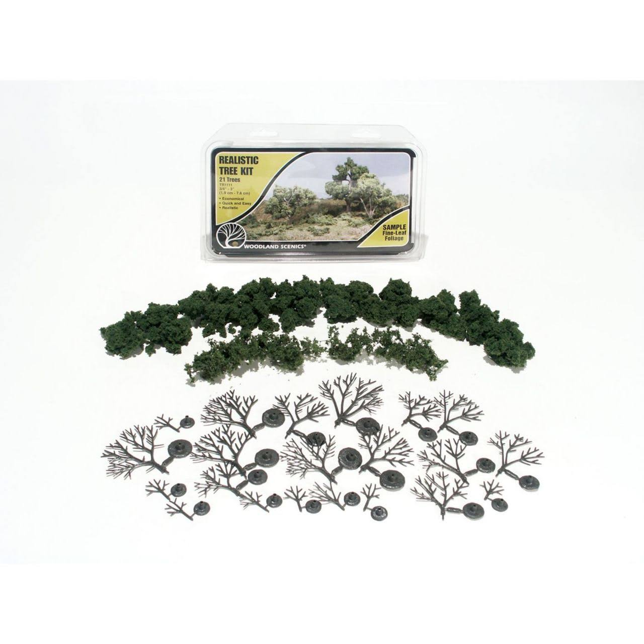 Woodland Scenics Medium Green Realistic Tree Kit