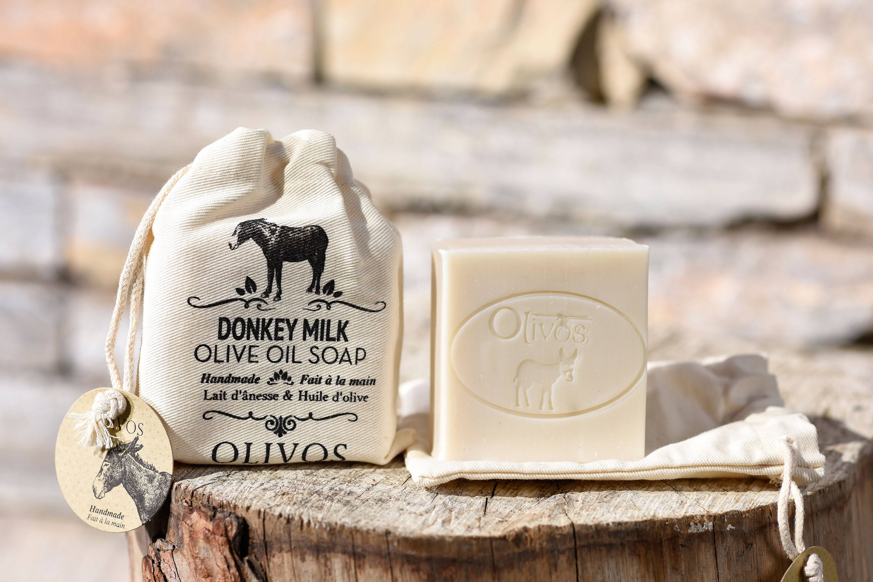 Olivos Donkey Milk Soap - with Canvas Bag, 150g