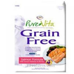 Pure Vita Grain Free Dog Food - Salmon and Peas, 5lbs