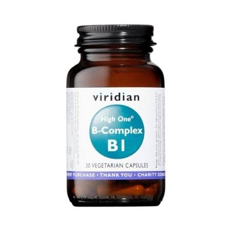 Viridian High One Vitamin B1 with B-Complex - 30 Vegetarian Capsules