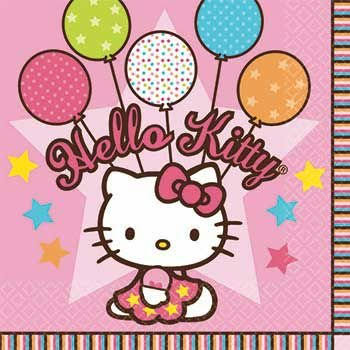 Amscan Hello Kitty Party Beverage Napkins - 16pk
