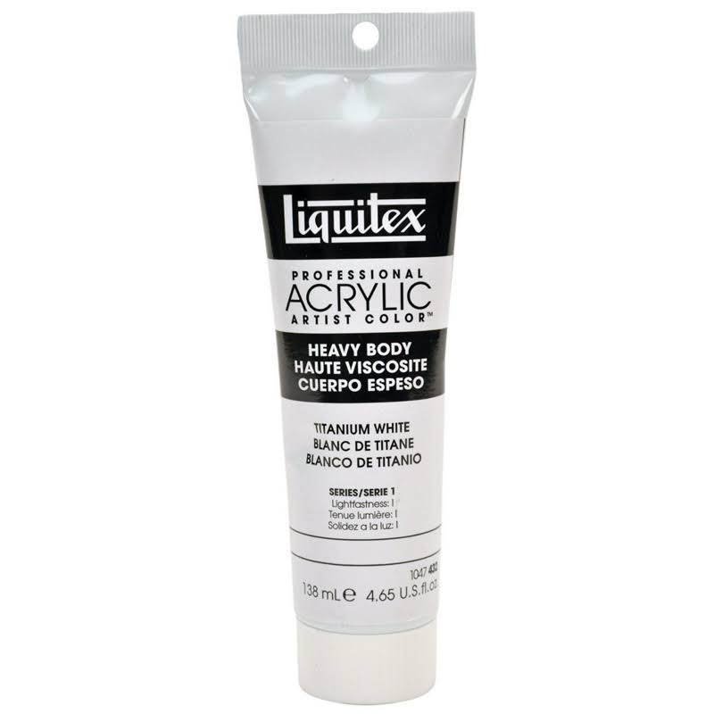 Liquitex Heavy Body Professional Acrylic Artist Colors - Titanium White