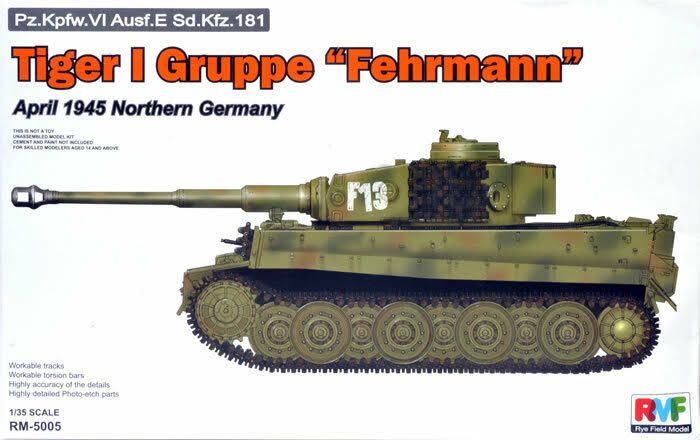 Rye Field Model Tiger I Gruppe Fehrmann Model Kit - Scale 1:35