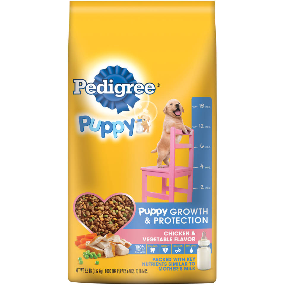 Pedigree Puppy Growth & Protection Dog Food - Chicken & Vegetable, 3.5lbs