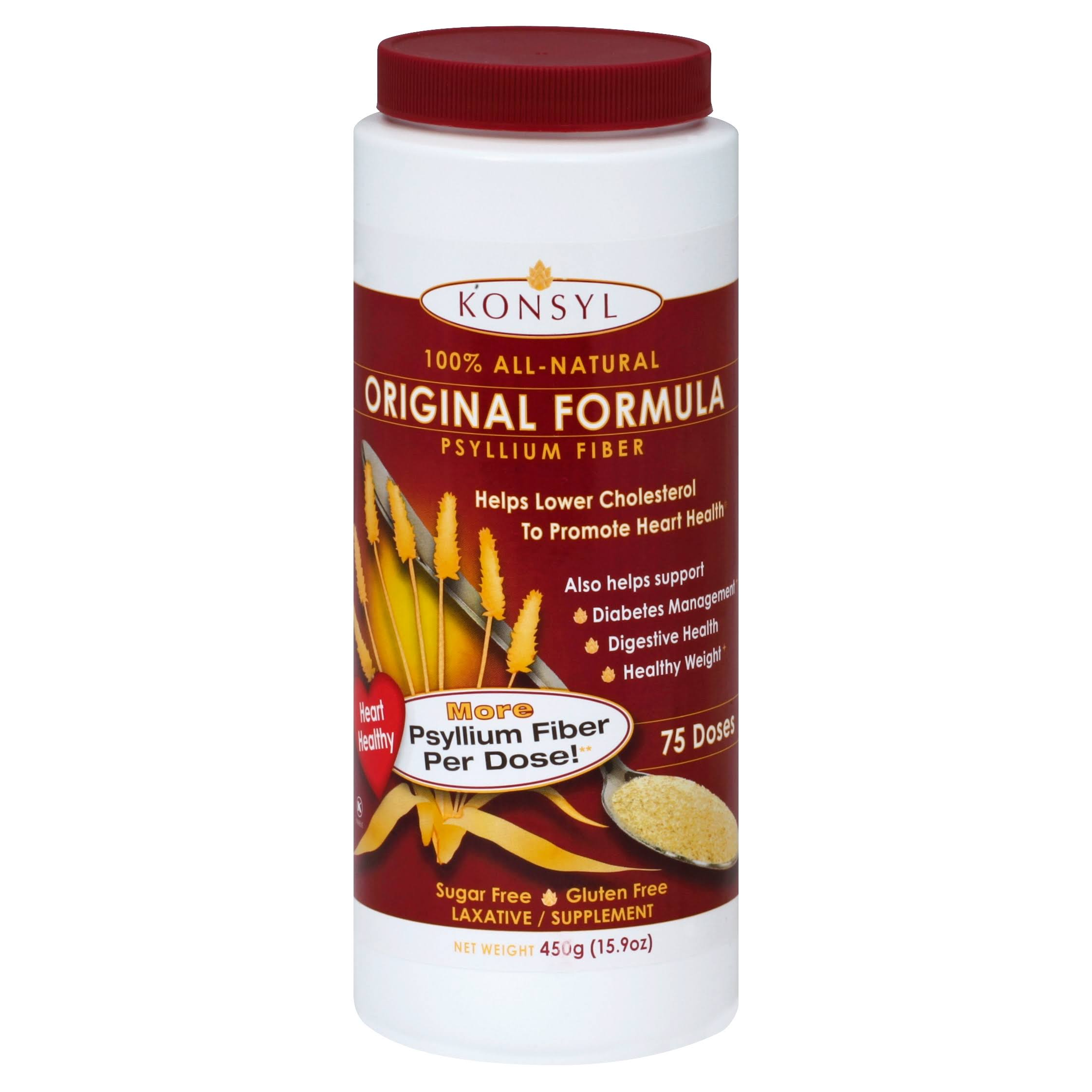 Konsyl Original Formula 100 Percent Psyllium Fiber Supplement - 450g