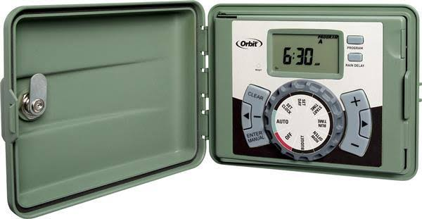 Orbit Outdoor Swing Panel Sprinkler System Timer - 6 Station