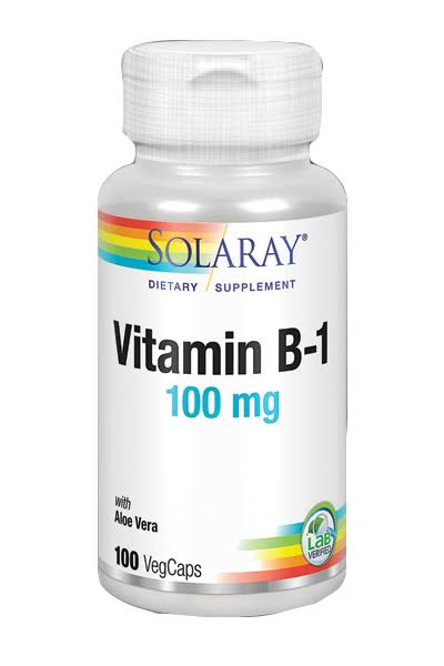 Solaray Vitamin B-1 100mg Dietary Supplement - 100 Capsules