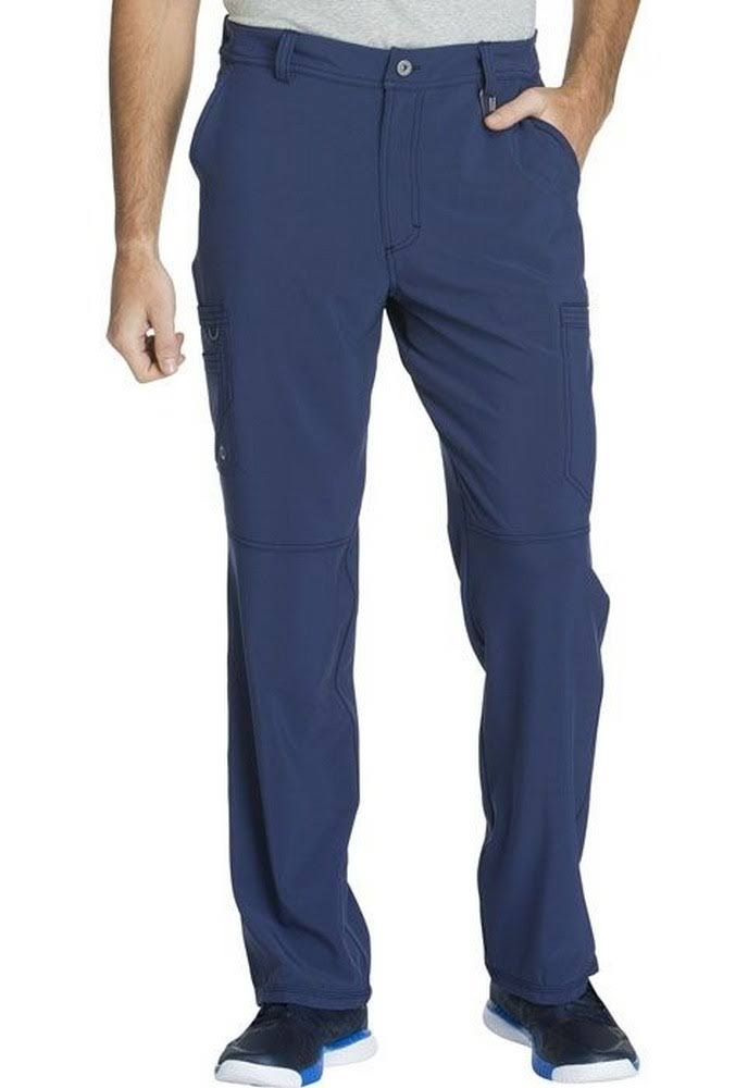 Cherokee Men's Fly Front Pant - Navy, Medium