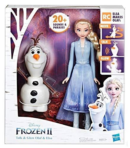 Disney's Frozen 2 Talk and Glow Olaf and Elsa Dolls