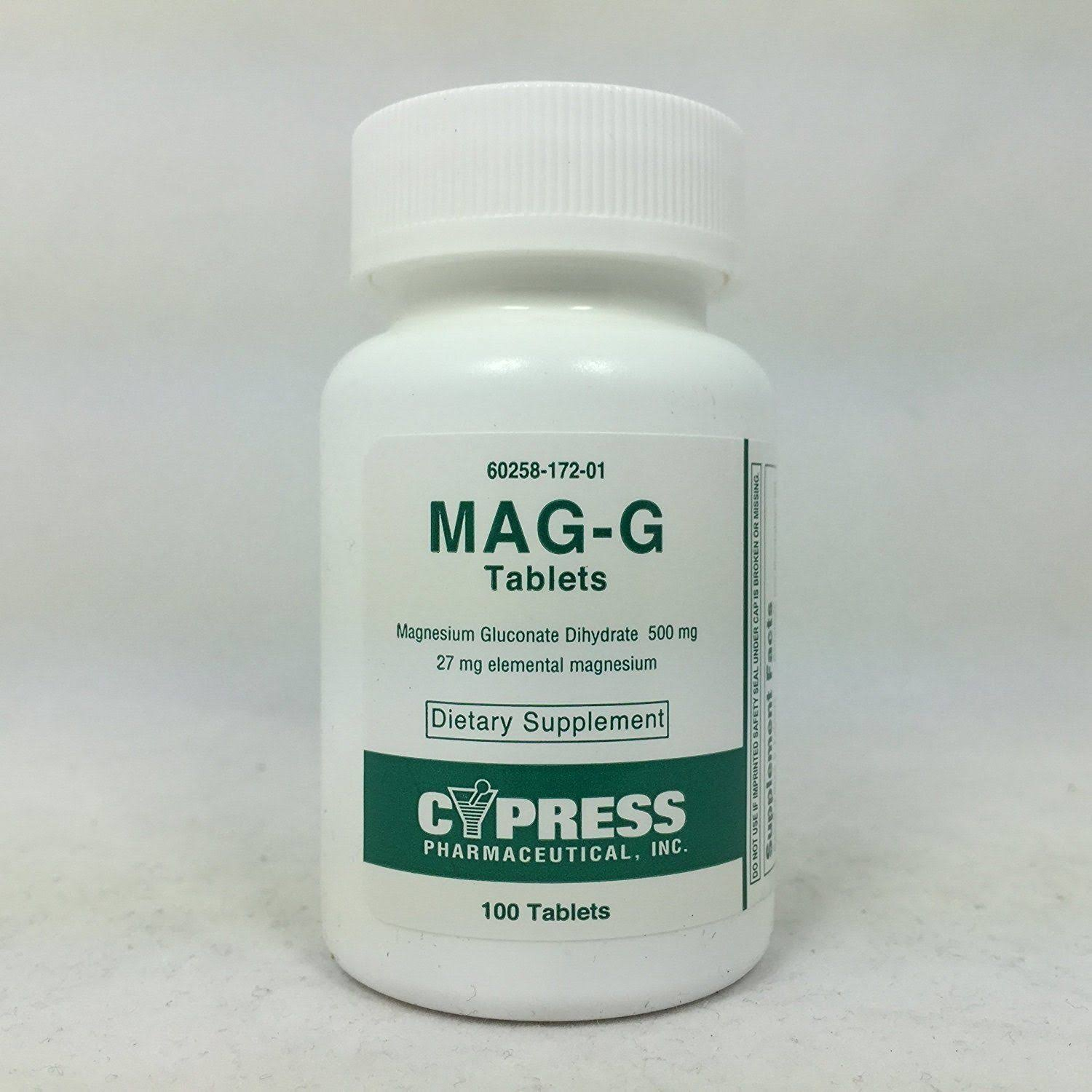 Mag-G Magnesium Gluconate Supplement